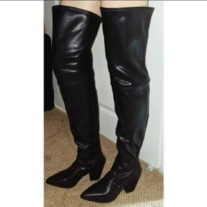 Michael Antonio patent thigh high boots size 6.5